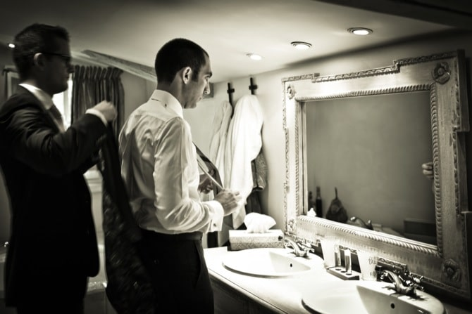 Preparations of the groom