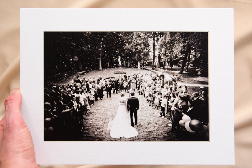 A picture box example of a wedding ceremony
