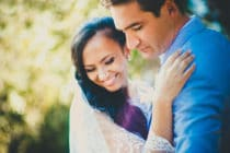 A bride and groom in Porquerolles